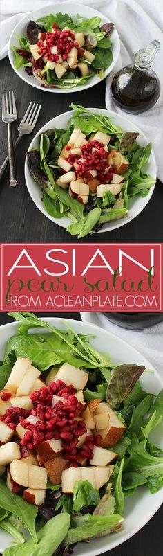 Simple, flavorful Asian Pear Salad from A Clean Plate
