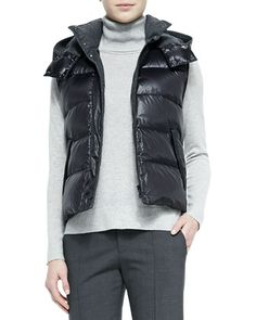 Detachable Hoodie Puffer Vest at CUSP.