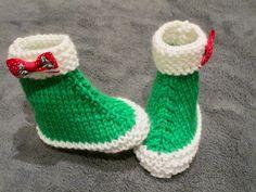 Chaussons de Noël 6-12 mois de la boutique leshistoiresdeslaine sur Etsy