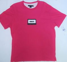French Connection 561A9 FURO Pink Cassette Tape T-shirt Sz XL NWT #FcukFrenchConnection #GraphicTee