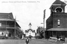 Florida Memory - View of Jefferson Street showing opera house, court house, and the market - Tallahassee, Florida