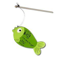 Fishing Themed Birthday party handmade bobber invitations