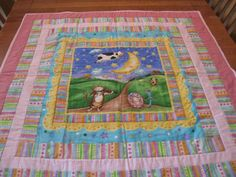 Nursery Rhyme Quilt for Toddler Girl by quiltedbykaren on Etsy, $85.00