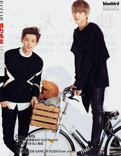 Chanyeol and Kris for Harper's Bazaar