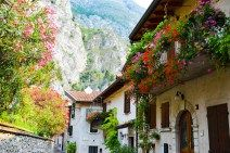 Alpine charms in  in Limone at Lake Garda, Italy