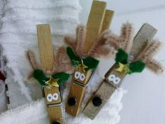 Surprised Reindeer - festive recycled manufactured clothes pins - OCCASIONS AND HOLIDAYS