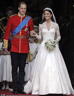 Reliving the big day: The Duke and Duchess of Cambridge will celebrate their first wedding anniversary on Sunday, 29 April 2012.