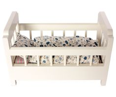 Maileg Wooden Cot-Bed, offwhite