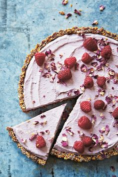 Tashi's Raw Rose & Raspberry Tart- just made this one tonight and can't wait to taste it tomorrow
