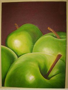 pinturas de manzanas verdes - Buscar con Google