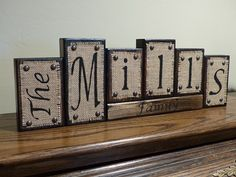 Welcome to Tara's Blocks  These custom designed name block letters are the perfect addition to your home. They also make unique personalized gifts for housewarmings and weddings, etc.... I take great