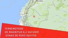 Terremoto de de magnitud 6,2 sacudió zonas de Perú Iquitos