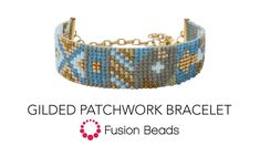 Watch how to create the Gilded Patchwork Bracelet by Fusion Beads