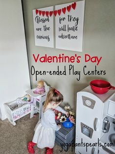 Playroom Makeover // Valentine's Day Play Centre, Fun Crafts For Kids, Imaginative Play, Kid Friendly Meals, As You Like, Parenting Hacks, Cool Kids, Playroom, Valentines Day