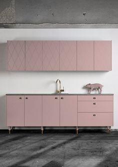 Superfront kök kitchen, pink, rosa