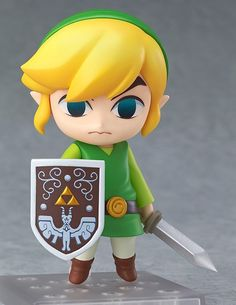 The Legend of Zelda Nendoroid Link Wind Waker Figure with Hero's Sword and Shield