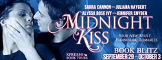 BOOK BLITZ & GIVEAWAY - Midnight Kiss: Four New Adult Paranormal Romances (Book Blitz, Giveaway, New Adult, Novella, Paranormal Romance, Xpresso Book Tours)  (October)
