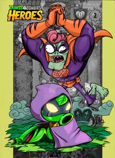 Plant vs zombies heroes version by erwinwin on DeviantArt Plantas Versus Zombies, Zombie Wallpaper, Plant Zombie, Fnaf, Awesome Games, Hero, Goku, Crossover, Drawings