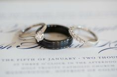 Great ring + invitation photo. Cherry Blossom Events and Katelyn James Photography