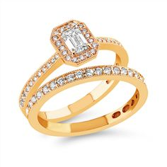 Kukkaniitty-timanttisormuksessa M-680k smaragdihiontainen timantti noin 0,30 ct, timantit yhteensä alkaen 0,50 ct 3000 €. Yhteensopivassa M-650k rivisormuksessa timantit 0,20 ct H-vs 1155 €. Engagement Rings, Jewelry, Fashion, Enagement Rings, Moda, Wedding Rings, Jewlery, Jewerly, Fashion Styles