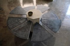 James De Wulf - Steel Fan Coffee Table. http://www.cdsavoia.com/#/artists/james-de-wulf/play