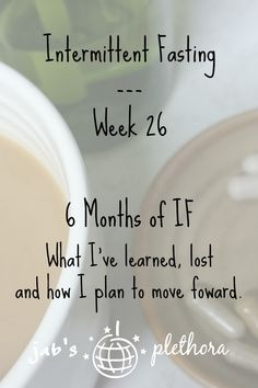 Intermittent Fasting - Week 26 - I've been on this journey for half a year.