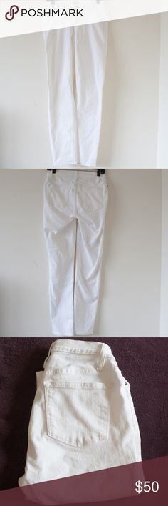 """[J. Crew] Slim Maternity Jeans White Item is like new and in excellent condition. No holes, rips, stains or tears. Please see photos for details.  Size 28T All measurements are measured flat.  Length: 40"""" Inseam: 30""""  Condition: Excellent pre-owned condition  *C72 J. Crew Jeans Skinny"""