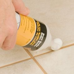 Grout sealant. Sealing grout is very important to keep your tile and grout last much longer :)
