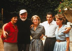 Ernest Hemingway with Antonio Ordonez and others at the Ordonez farm, Spain, circa Ernest Hemingway, Islands In The Stream, Presidential Libraries, Extraordinary People, Latest Generation, Sophia Loren, First World, American, Celebrities