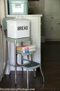 Great Love This Kitchen   The Old Step Stool With The Bread Box   Such Charming  Touches Gallery