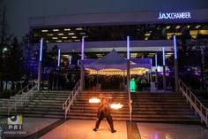 Event Entertainment -Fire throwing at the JAX Chamber Annual Meeting in Downtown Jacksonville Annual Meeting, Entertainment, Fire, Patio, Table Decorations, Outdoor Decor, Home Decor, Yard, Decoration Home