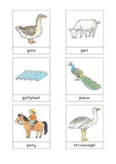 Woordkaarten Bas 'De kinderboerderij' 2
