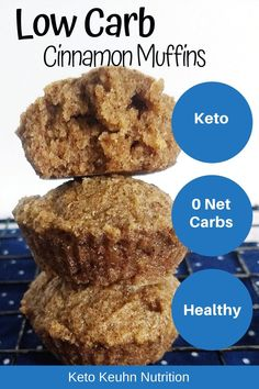 Keto Caramel Cinnamon Muffins The ultimate 0 net carb keto cinnamon muffin recipe. Enjoy these healthy low carb muffins over a cup of coffee with some cream cheese frosting or butter. Keto Foods, Keto Carbs, Low Carb Keto, Paleo Meals, Paleo Food, Diet Meals, Veggie Food, Yummy Food, Low Carb Desserts