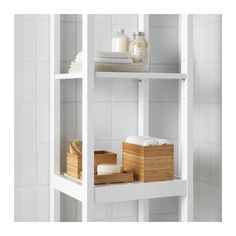 IKEA DRAGAN 2-piece bathroom set Helps you organise cotton wool and hair clips.