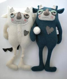 Monster Time - Sweet Poppy Cat. I could pin every one of her creations!