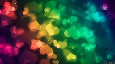 Pequeños corazones multicolor