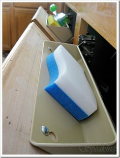 Kitchen sink tip-outs - Domestically Speaking