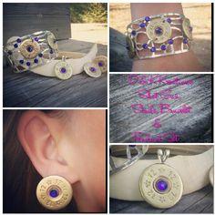 D & K Kreations Shot Gun studs, pendant & bracelet set. I love th earrings