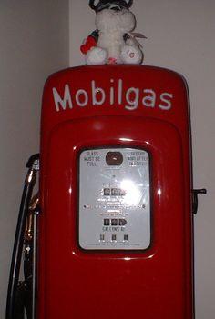 old gas pumps  | Vintage Gas Pump Mobil Oil