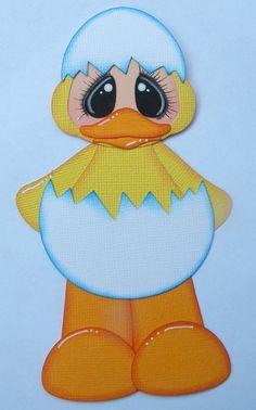 Paper Piecing Duck Halloween Costume Kid Premade Scrapbook Layout, page