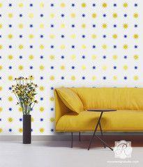 Starry Night Stencil Star WallRoyal DesignWall