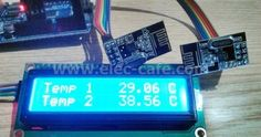 Multiple Nodes Wireless Temperature with Arduino UNO Transmitter , 1 Receiver) Nrf24l01 Arduino, Arduino Wireless, Esp8266 Wifi, Hobby Electronics, Electronics Basics, Electronics Projects, Spy Video Camera, Simple Arduino Projects, Monitor