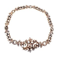 Diamond Victorian Necklace Converts to Bracelet   From a unique collection of vintage link necklaces at https://www.1stdibs.com/jewelry/necklaces/link-necklaces/