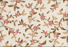Emma Grace – Peach Floral Stems on Cream - Welcome to The Qulting Hen Secure Online Store