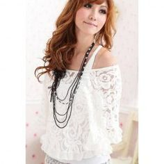 Morden Style Scoop Neck Batwing Sleeve With Tank Top Lace Twinset Blouse For Women - SO CUTE. $7.54. Amazing. Will have to return to this site.