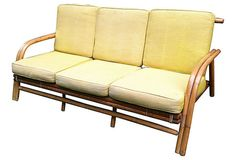 Mid Century Bamboo Sofa in Hudson Square, Manhattan ~ Apartment Therapy Classifieds
