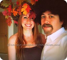 Coolest Bob Ross and Happy Little Tree DIY Couples Costume... Coolest Homemade Costumes