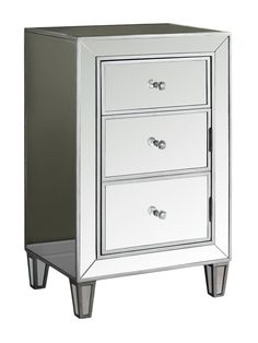 "ACCENT TABLE - 29""H / BRUSHED SILVER / MIRROR from Stash Your Stuff: Furniture with Storage on Gilt"
