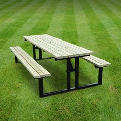 Picnic Table Medium Mixed Steel Wood Size X Notes Seats - Metal base picnic table