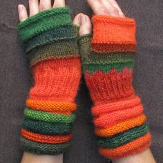 Items similar to Fashion accessories Orange Green gift for women knit fingerless of Mandarins grove Gift for her Knit fingerless gloves Hand Knit gloves on Etsy Fingerless Gloves Knitted, Knit Mittens, Mode Orange, Striped Mittens, Gifts For Women, Gifts For Her, Women Accessories, Fashion Accessories, Hand Accessories